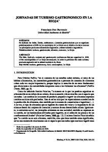 JORNADAS DE TURISMO GASTRONOMICO EN LA RIOJA *