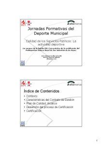 Jornadas Formativas del Deporte Municipal
