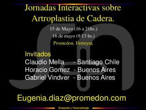 Jornadas Interactivas sobre Artroplastia de Cadera