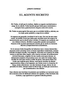 JOSEPH CONRAD EL AGENTE SECRETO