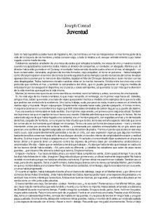Joseph Conrad Juventud