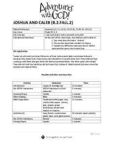 JOSHUA AND CALEB (B.2.FALL.2)