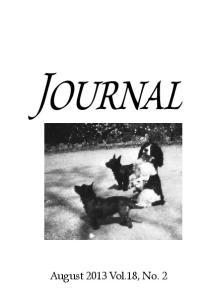 Journal. August 2013 Vol.18, No. 2