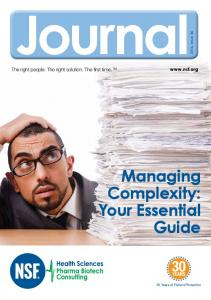 Journal. Managing Complexity: Your Essential Guide.  The right people. The right solution. The first time
