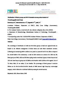 Journal of Advanced Applied Scientific Research - ISSN: Soundarya N et.al JOAASR-Vol-1-1-May-2015:84-96