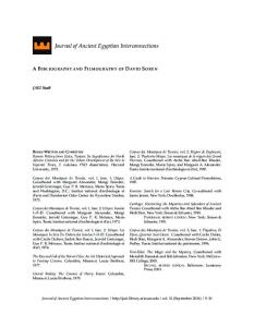Journal of Ancient Egyptian Interconnections