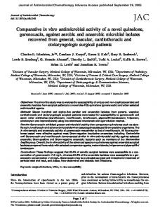 Journal of Antimicrobial Chemotherapy Advance Access published September 26, 2005
