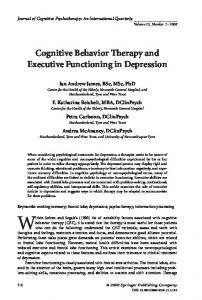Journal of Cognitive Psychotherapy: An International Quarterly Volume 22, Number