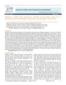 JOURNAL OF COMPUTATION IN BIOSCIENCES AND ENGINEERING