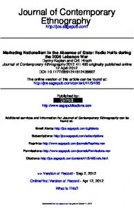 Journal of Contemporary Ethnography