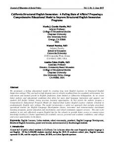 Journal of Education & Social Policy Vol. 2, No. 2; June 2015