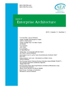 Journal of Enterprise Architecture