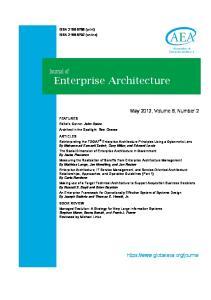 Journal of Enterprise Architecture