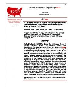 Journal of Exercise Physiologyonline