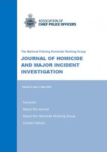 JOURNAL OF HOMICIDE AND MAJOR INCIDENT INVESTIGATION