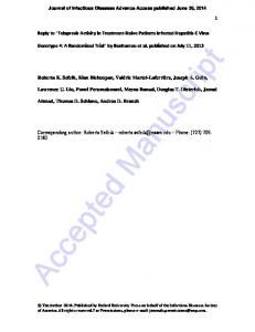 Journal of Infectious Diseases Advance Access published June 26, 2014