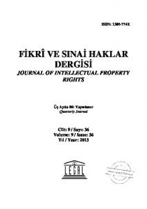 JOURNAL OF INTELLECTUAL PROPERTY RIGHTS