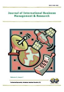 Journal of International Business Management & Research