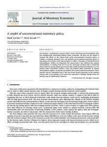 Journal of Monetary Economics
