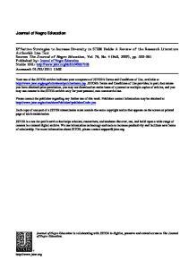 Journal of Negro Education