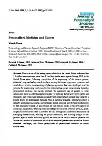 Journal of Personalized Medicine ISSN