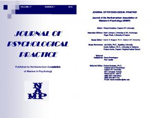 JOURNAL OF PSYCHOLOGICAL PRACTICE