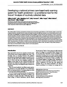 Journal of Public Health Advance Access published December 7, 2006