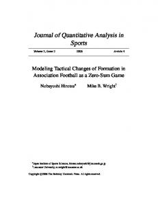 Journal of Quantitative Analysis in Sports