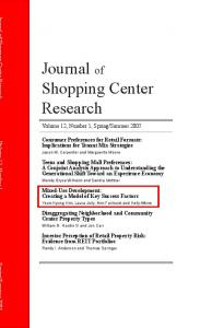Journal of Shopping Center Research