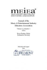 Journal of the Music & Entertainment Industry Educators Association