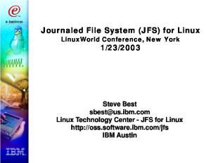 Journaled File System (JFS) for Linux