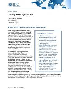 Journey to the Hybrid Cloud