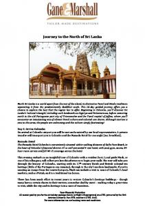 Journey to the North of Sri Lanka