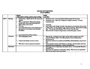 Journeys and Explorations Course Syllabus