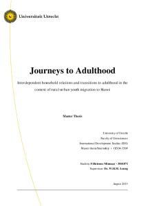 Journeys to Adulthood