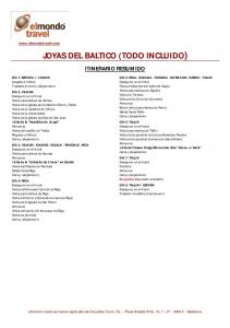 JOYAS DEL BALTICO (TODO INCLUIDO)