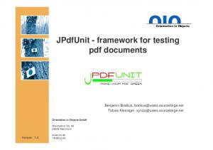 JPdfUnit - framework for testing pdf documents
