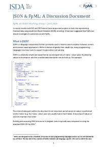 JSON & FpML: A Discussion Document