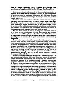 Juan A. Sánchez Fernández (2012), La tesitura de La Celestina (Una aproximación), Praga, Universidad Carolina de Praga Karolinum, 221 p