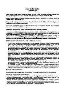 Juan Carlos Godoy Curriculum Vitae