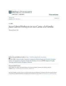 Juan Gabriel Perboyre en sus Cartas a la Familia