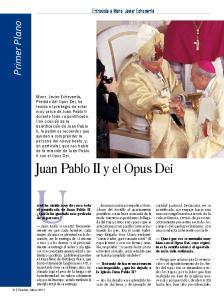 Juan Pablo II y el Opus Dei