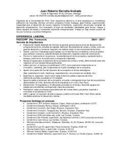 Juan Roberto Sierralta Andrade Fundo El Algarrobal W-48, Chicureo, Santiago celular: