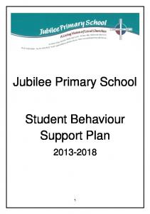 Jubilee Primary School. Student Behaviour Support Plan