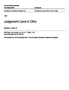 Judgement Liens in Ohio