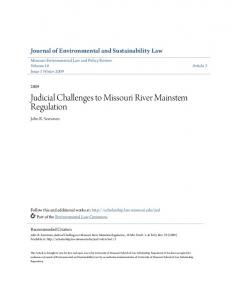 Judicial Challenges to Missouri River Mainstem Regulation