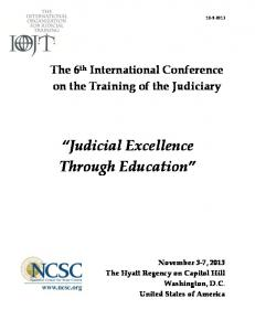 Judicial Excellence Through Education