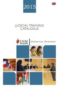 JUDICIAL TRAINING CATALOGUE. International Department