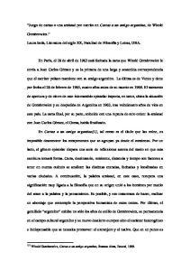 Juego de cartas o una amistad por escrito en Cartas a un amigo argentino, de Witold