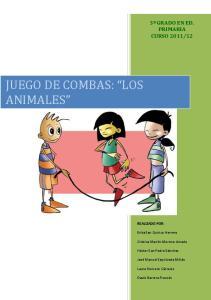 JUEGO DE COMBAS: LOS ANIMALES